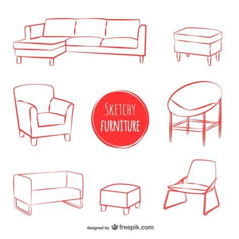 sofa vetorizado sketchy furniture vectors vector free download