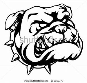 Mean Looking Cartoon Pet Bulldog Dog Stock Vector ...