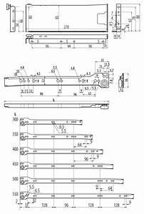 86mm High Pan Drawer Slides - Pan Drawer Runners