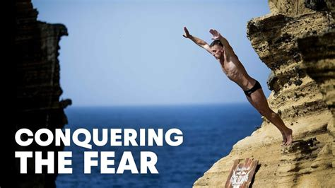 conquering the fear of cliff diving red bull cliff
