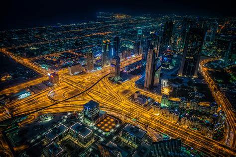 dubai building lights skycrappers  hd world
