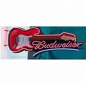Budweiser Beer Guitar Neon Sign