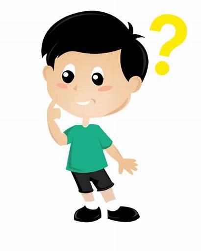 Thinking Boy Transparent Clipart Child Clip Gambar