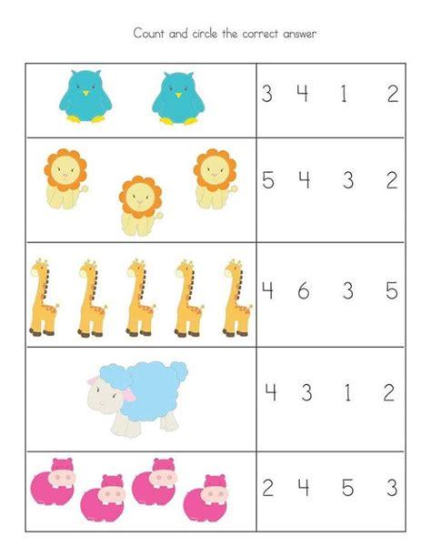 preschool kindergarten simple math worksheets