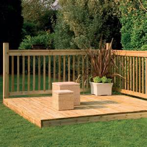 Deck Tiles Lowes by Decking Kit With Handrails 2 4 M Decking Kits At