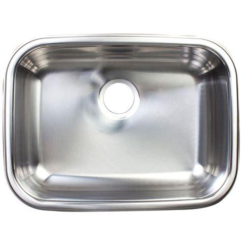 single bowl undermount sink franke undermount stainless steel 24x18x8 0 hole single