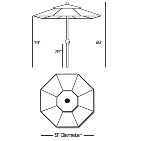 patio umbrella 9 ft standard tilt market patio at sun