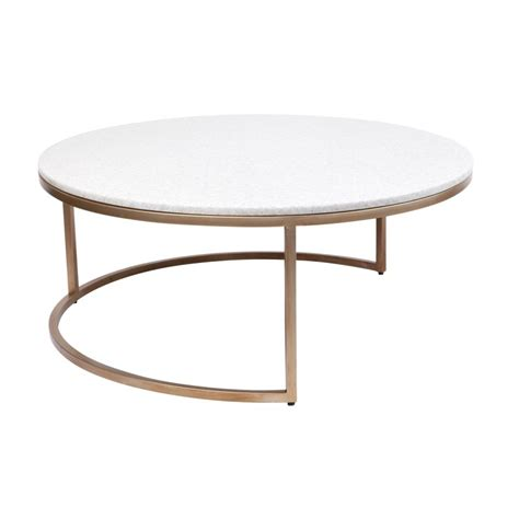 These tables can be used as coffee tables in the living room or as nightstands in the bedroom. Chloe 2 Piece Marble Top Nesting Round Coffee Table Set, 95cm, Gold