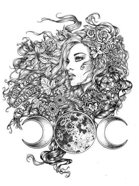 Pin by Queen Bee on Pretty Things / Art in 2019 | Goddess tattoo, Wiccan tattoos, Tattoo designs