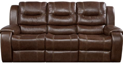 Contemporary Leather Reclining Sofa by 1 144 00 Veneto Brown Leather Power Reclining Sofa