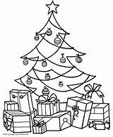 Coloring Tree Christmas Pages sketch template