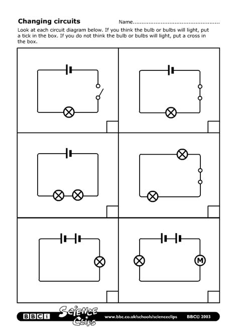Bbc Schools Science Clips Changing Circuits Worksheet
