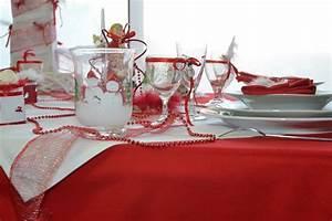 Ide Dco Table De Noel Rouge Et Or