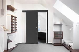 Porte Coulissante Applique : comment gagner de la place dans sa salle de bain ~ Carolinahurricanesstore.com Idées de Décoration
