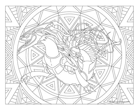 Metagross Pokemon Free Colouring Pages