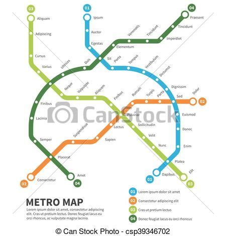 transit template eps metro subway map vector template urban underground