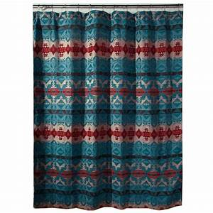 Western, Shower, Curtains, Cerrillos, Hills, Turquoise, Shower