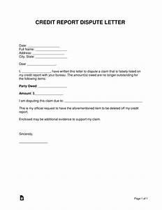 free credit repair letters templates - free credit report dispute letter word pdf eforms