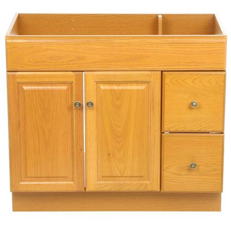 Home Depot Oak Bathroom Cabinet by Design House Claremont 36 In W X 18 In D Unassembled