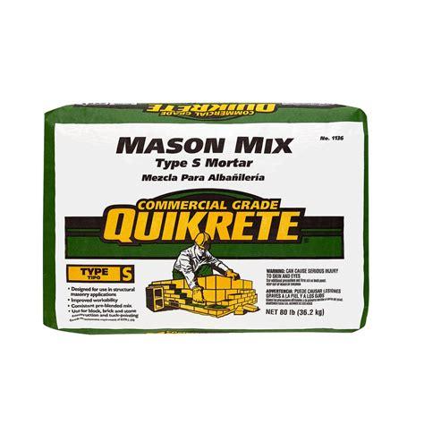 depot quikrete quikrete 80 lb type s mix 113680 the home depot Home