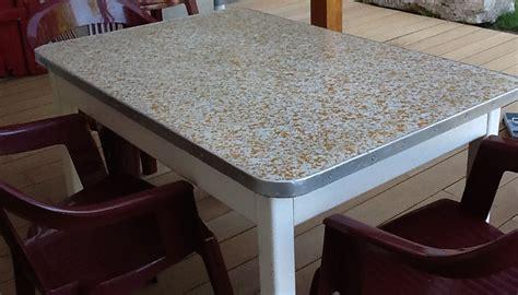 relooker une table de cuisine kit complet béton ciré pour relooker sa table basse