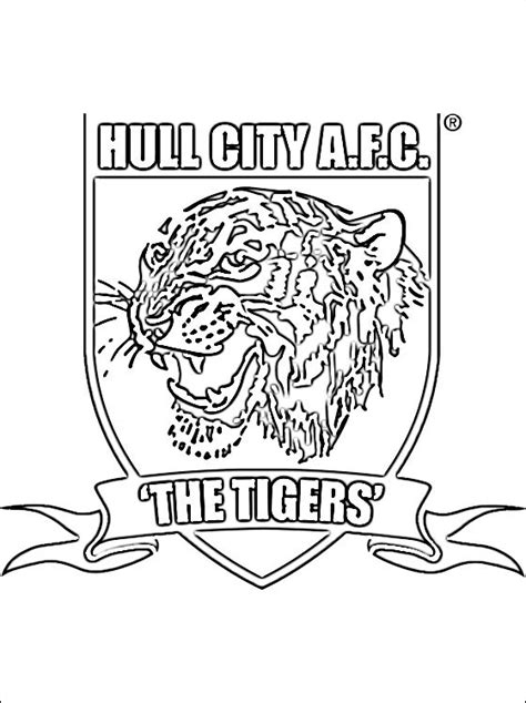 le logo de hull city association football club coloriage