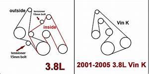 2001 U20132005 Pontiac Grand Prix 3 8l And 3 8l Vin K Serpentine Belt Diagram