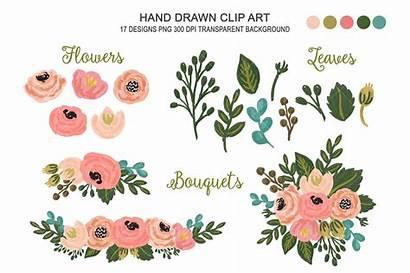Clipart Floral Flower Transparent Cliparts Market Clip