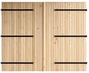 porte de garage et porte interieur bois sur mesure porte With porte de garage et double porte bois