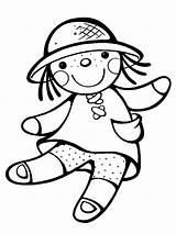 Doll Coloring Pages Dolls Ragdoll Printable Lol Toys Paper Rocks Russian Loldolls Kaynak Recommended sketch template