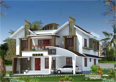 house plans contemporary modern house elevation from kasaragod kerala kerala home design and floor plans