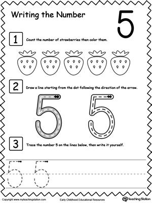 learn to count and write number 5 numbers counting