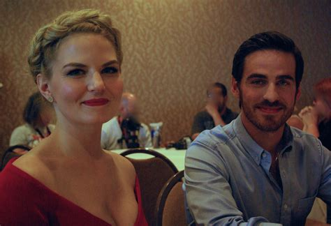 colin o donoghue and jennifer morrison comic con 2014 courtney k and the cast of once upon a