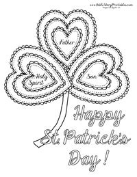 You can print or color them online at getdrawings.com for absolutely free. St. Patrick's Day Bible Coloring Page | Sunday school ...