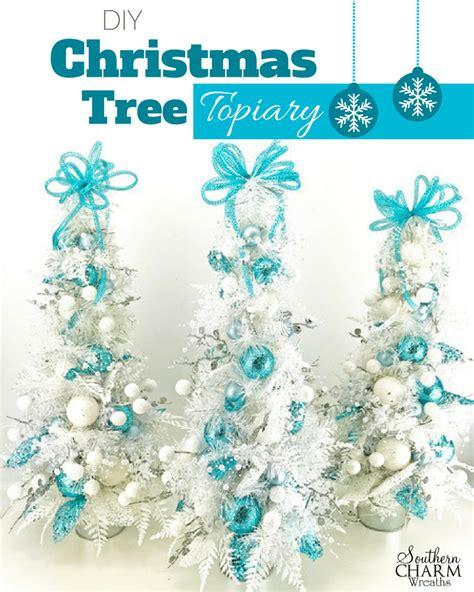 diy christmas tree topiary   table christmas time