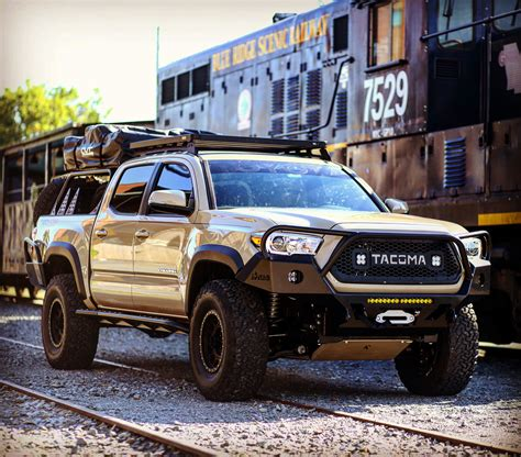 toyota 4runner lifted 2016 tacoma 3rd gen overland series front bumper full