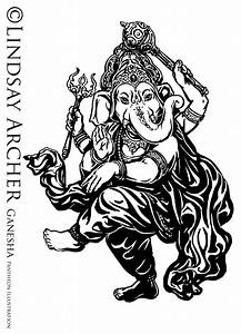 Ganesh Painting Black And White | www.imgkid.com - The ...