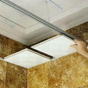 Pose De Faux Plafond : pose faux plafond suspendu dalle 60x60 maison travaux ~ Premium-room.com Idées de Décoration