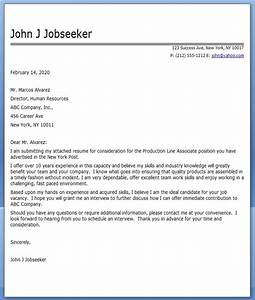Cover letter production line worker resume downloads for Sample cover letter for production worker
