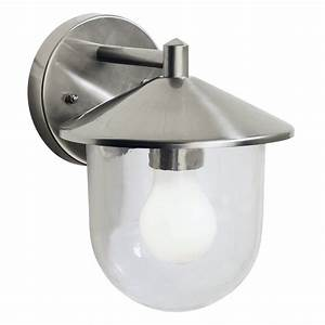 dar lighting poole poo1544 outdoor wall light in steel at With outdoor wall lights for sale uk