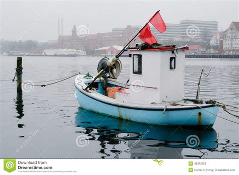 One Person Boat by Tiny Fishing Boat Sonderborg Denmark Editorial