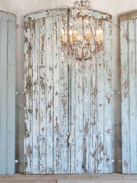 shabby chic door shabby vintage chic chippy blue barn door grey finish arched french style large ebay