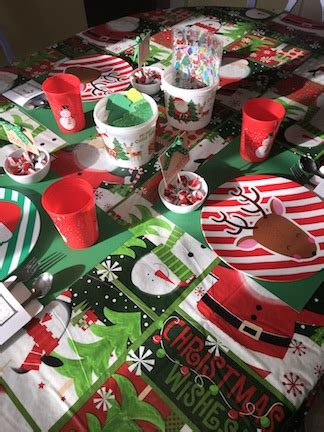 north pole christmas table  kids cookies coffee