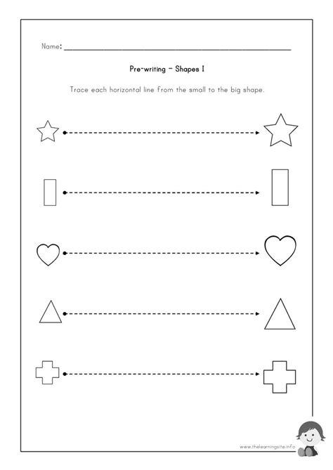 Pre K Writing Worksheets Printable  Early Childhood Writing Numbers Worksheets