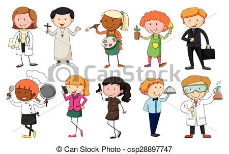 12202 different professions clipart set of in different occupation eps vector