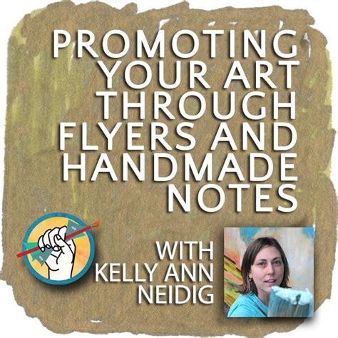 promoting  art  flyers  handmade notes
