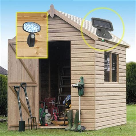 solar power motion sensor security garden shed light ebay