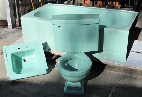 American Standard Vintage Bathroom Fixtures In Ming Green