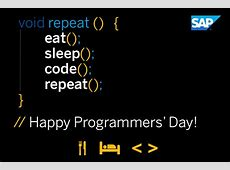 Programmers' Day 2017 2018 2019 Calendar with holidays