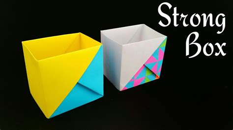 Strong Dual Tone Box From A4 Paper  Useful Origami